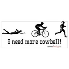 I need more cowbell triathlon Framed Print